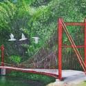 Seagulls Fly Over Bridge